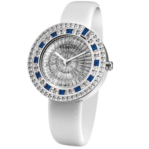 Часы Damiani Belle Epoque Masterpiece белое золото, бриллианты, сапфиры (30018680)