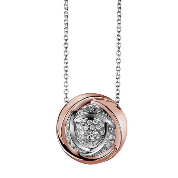 Подвеска Damiani Bocciolo белое, розовое золото, бриллианты (20024595)