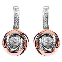 Серьги Damiani Bocciolo белое, розовое золото, бриллианты (20024598)