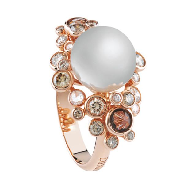 Кольцо Damiani Bubbles розовое золото, жемчуг, бриллианты, кварц (20055196)