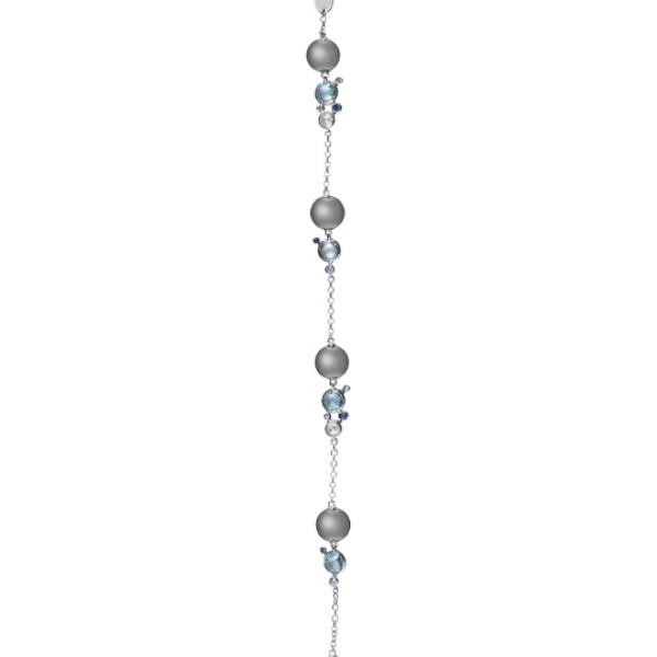 Браслет Damiani Bubbles белое золото, жемчуг, бриллианты, сапфиры, топазы (20055194)