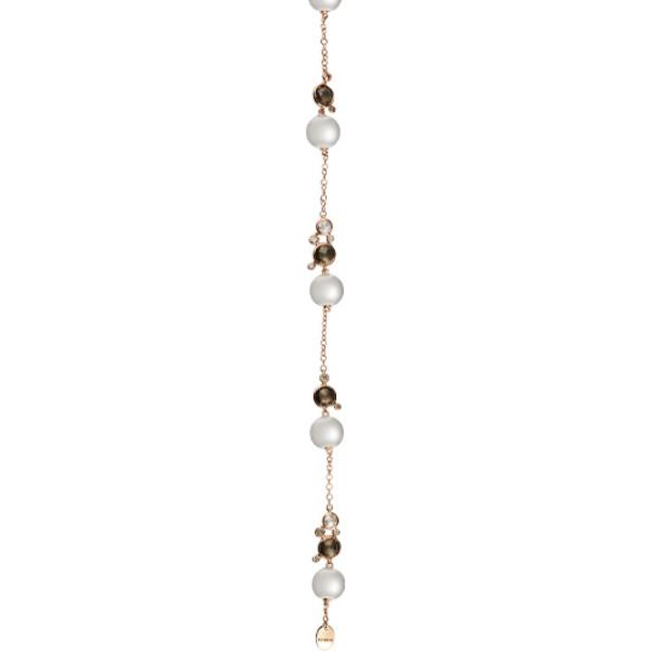 Браслет Damiani Bubbles розовое золото, жемчуг, бриллианты, кварц (20055198)