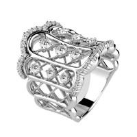 Кольцо Damiani Burlesque белое золото, бриллианты (20049152)