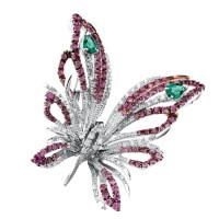 Бабочка Damiani Butterfly белое золото, бриллианты, сапфиры (20046654)
