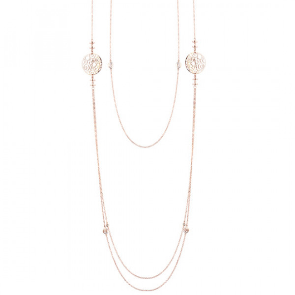Колье Damiani Damianissima розовое золото, бриллианты (20058632)