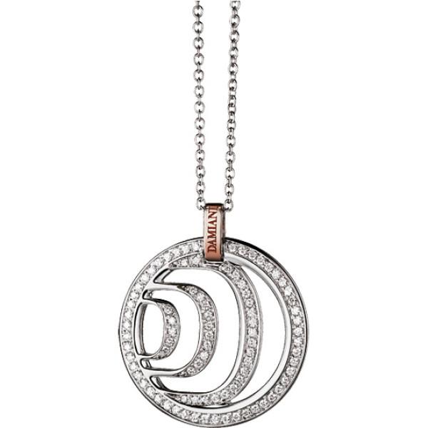 Подвеска Damiani Damianissima, белое и розовое золото, бриллианты (20023973)