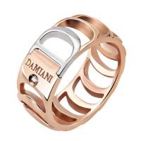 Кольцо Damiani Damianissima, белое и розовое золото с бриллиантом (20023962)