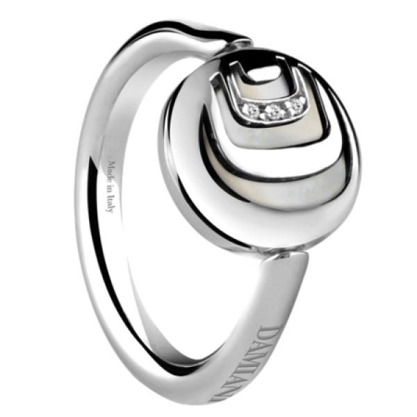 Кольцо Damiani Damianissima.925 серебро, бриллианты, оникс, перламутр (20045645)