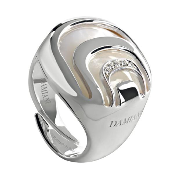 Кольцо Damiani Damianissima.925 серебро, бриллианты, перламутр (20041998)