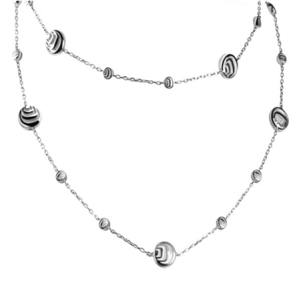 Цепочка Damiani Damianissima.925 серебро, бриллианты, перламутр (20045656)