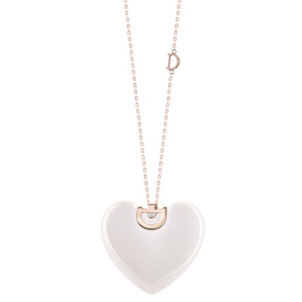 Ожерелье Damiani D.Icon, керамика, розовое золото, бриллиант (20059831)