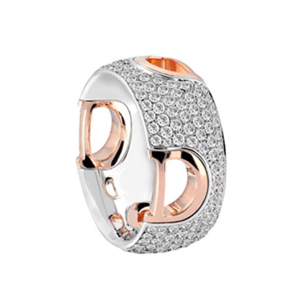 Кольцо Damiani D.Icon, белое и розовое золото, бриллианты (20049430)