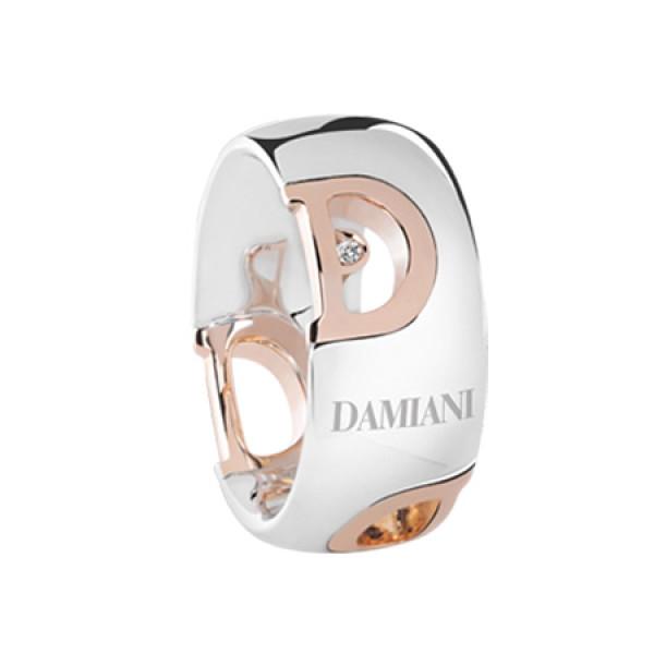 Кольцо Damiani D.Icon, белое и розовое золото, бриллиант (20054677)