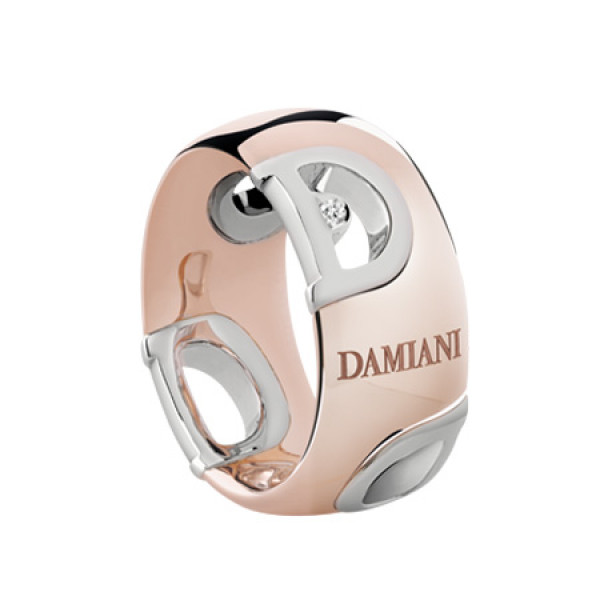 Кольцо Damiani D.Icon, белое и розовое золото, бриллиант (20055107)