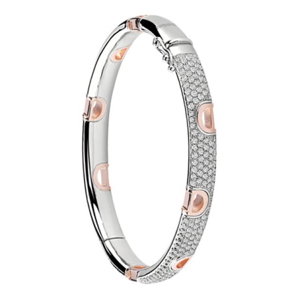 Браслет Damiani D.Icon, белое и розовое золото, бриллианты (20054391)