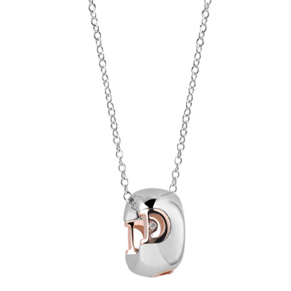 Ожерелье Damiani D.Icon, белое и розовое золото, бриллиант (20054387)