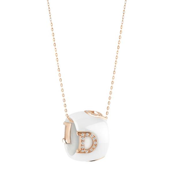 Ожерелье Damiani D.Icon, розовое  золото, керамика, бриллианты (20045907)