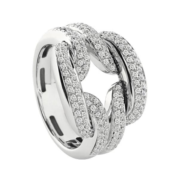 Кольцо Damiani D.Lace, белое золото, бриллианты (20056952)