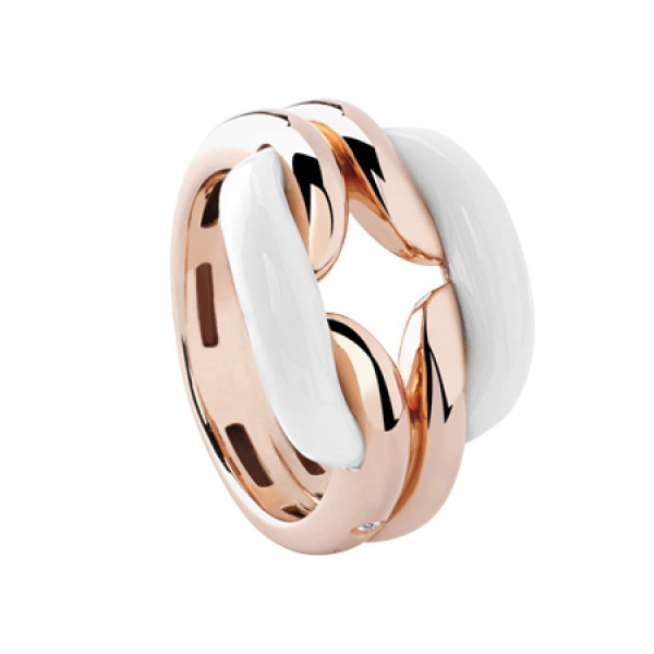 Кольцо Damiani D.Lace, розовое золото, агат (20055296)