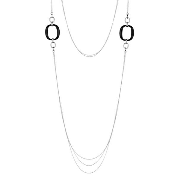 Ожерелье Damiani D.Lace, белое золото, бриллианты, оникс (20055362)