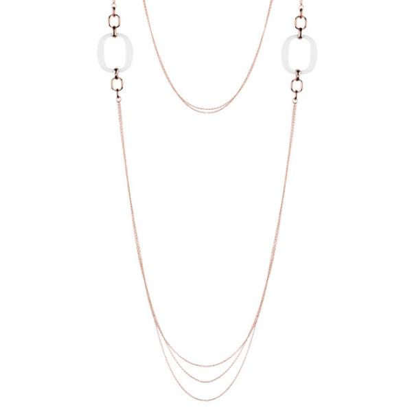 Ожерелье Damiani D.Lace, розовое золото, агат (20054705)