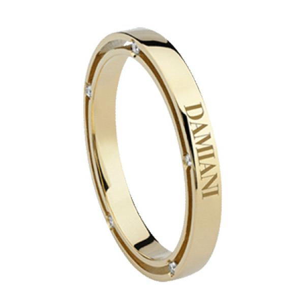 Кольцо Damiani D.Side, желтое золото, бриллиант (20053335)