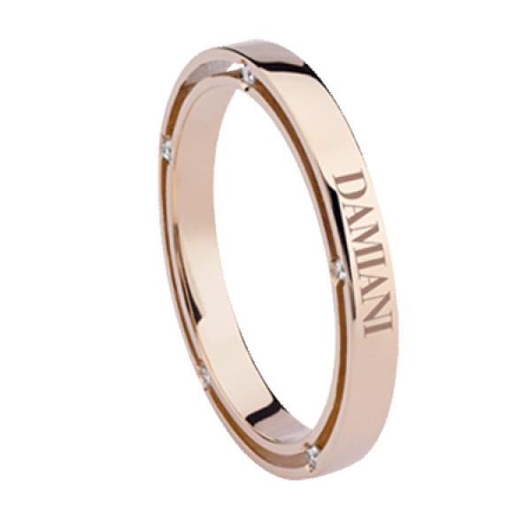 Кольцо Damiani D.Side, розовое золото, бриллиант (20053375)