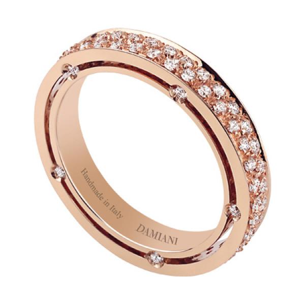 Кольцо Damiani D.Side, розовое золото, бриллианты (20028356)