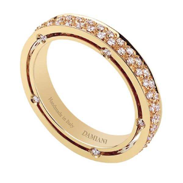 Кольцо Damiani D.Side, желтое золото, бриллианты (20028354)