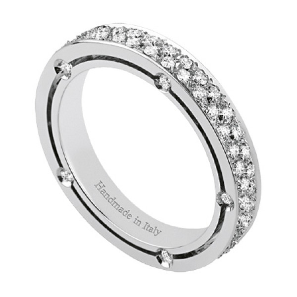Кольцо Damiani D.Side, белое золото, бриллианты (20028355)
