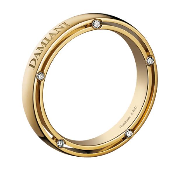 Кольцо Damiani D.Side, желтое золото, бриллианты (20037128)