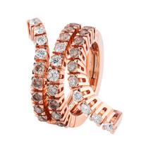 Кольцо Damiani Eden, розовое золото, бриллианты (20047461)