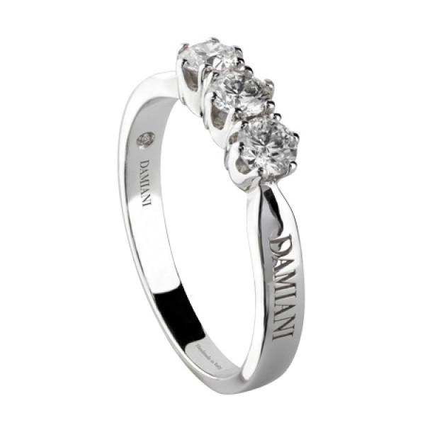 Кольцо Damiani Elettra, белое золото/платина, бриллианты