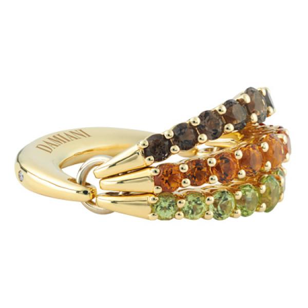 Кольцо Damiani Gaia Fancy, желтое золото, полудрагоценные камни (20046569)