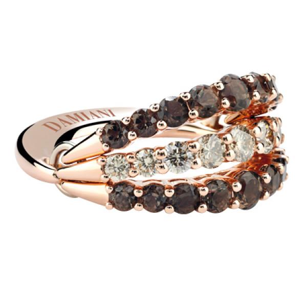 Кольцо Damiani Gaia Fancy, розовое золото, бриллианты, кварц (20046490)