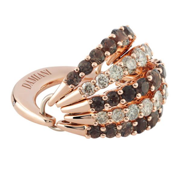 Кольцо Damiani Gaia Fancy, розовое золото, бриллианты, кварц (20046567)