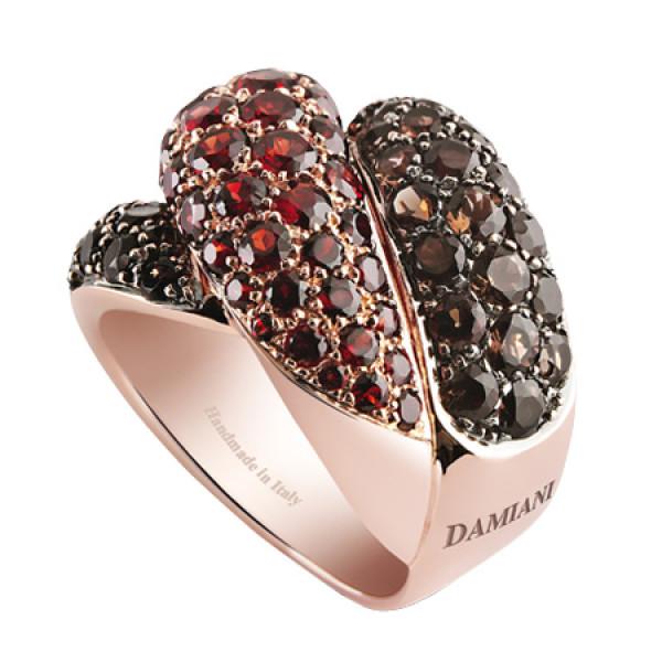 Кольцо Damiani Gomitolo, розовое золото, полудрагоценные камни (20032209)
