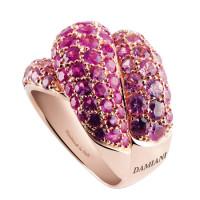 Кольцо Damiani Gomitolo, розовое золото, сапфиры (20032200)