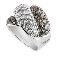 Кольцо Damiani Gomitolo, белое золото, бриллианты (20032203)