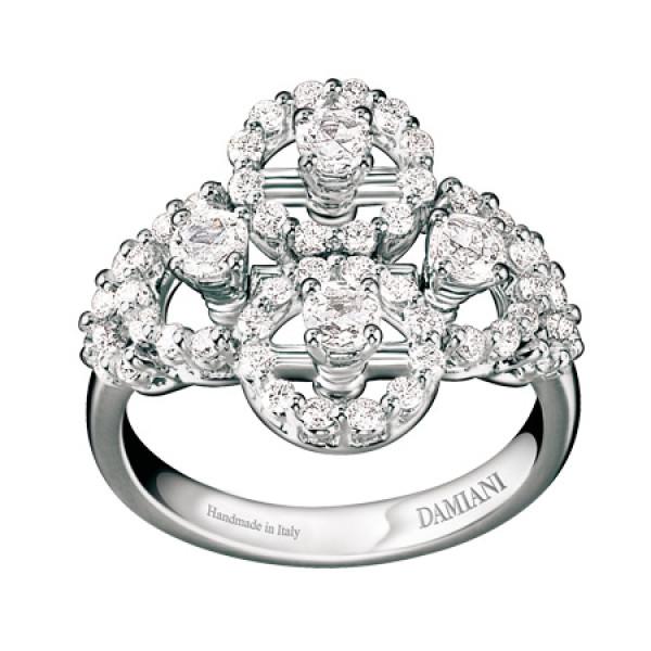 Кольцо Damiani Juliette, белое золото, бриллианты (20021450)