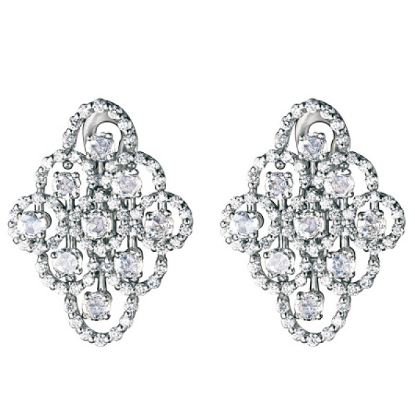 Серьги Damiani Juliette, белое золото, бриллианты (20021456)