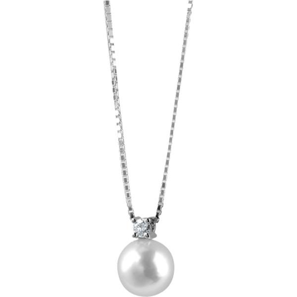 Подвеска Damiani Le Perle белое золото, жемчуг, бриллиант (20012340)