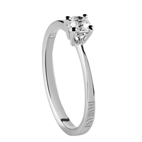Кольцо Damiani Luce белое золото с бриллиантом