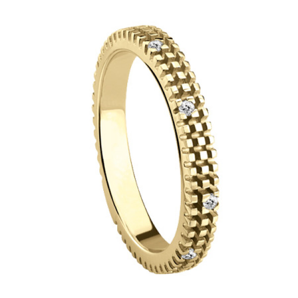 Кольцо Damiani Metropolitan Dream желтое золото, бриллианты (20053193)