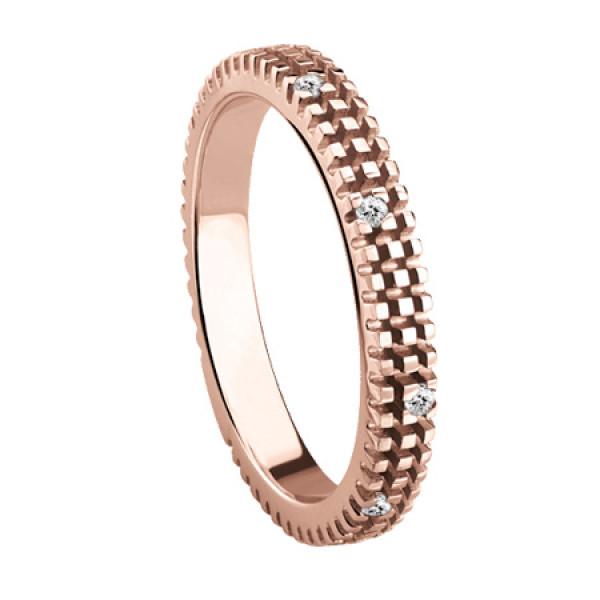 Кольцо Damiani Metropolitan Dream розовое золото, бриллианты (20053308)