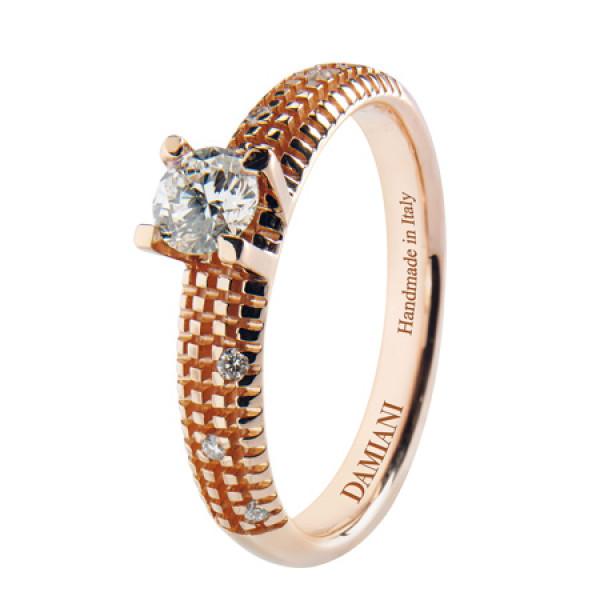 Кольцо Damiani Metropolitan Dream красное золото/платина, бриллиант