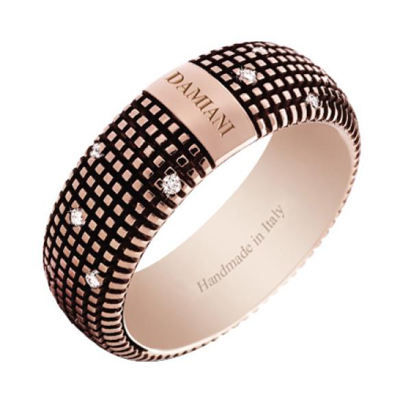 Кольцо Damiani Metropolitan Dream коричневое золото, бриллианты (20048445)
