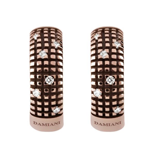 Серьги Damiani Metropolitan Dream коричневое золото, бриллианты (20031703)