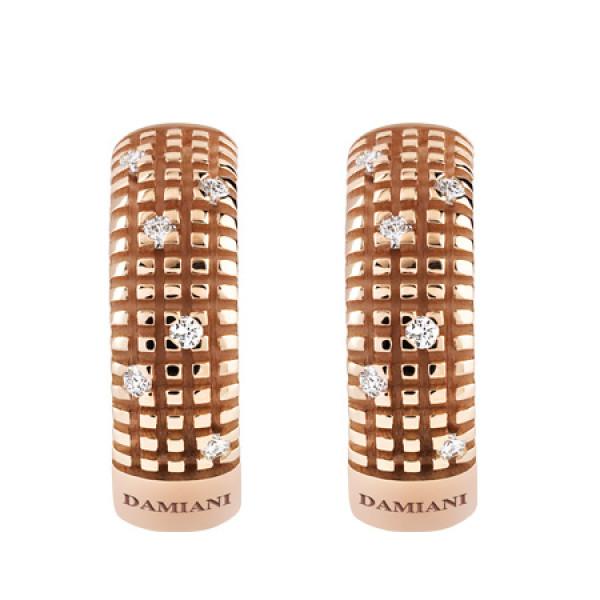 Серьги Damiani Metropolitan Dream розовое золото, бриллианты (20031700)