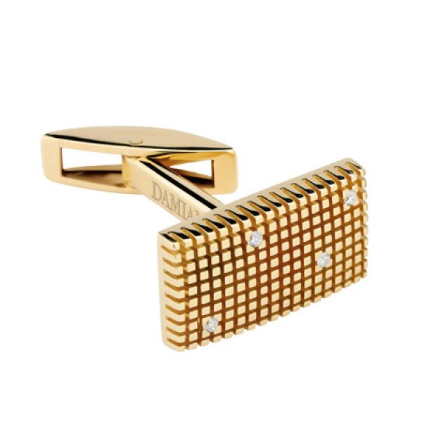Запонки Damiani Metropolitan Dream желтое золото, бриллианты (20038621)
